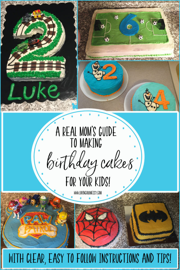 A Real Moms Guide To Making Birthday Cakes For Your Kids Part 2
